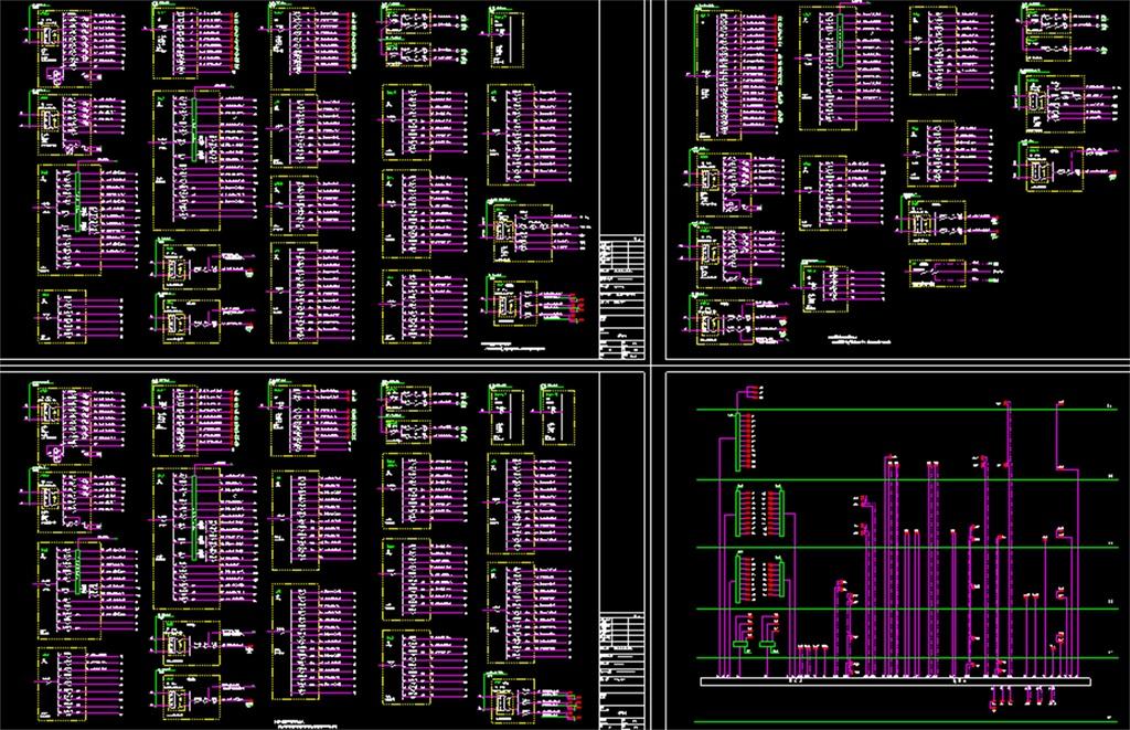 cad弱电平面图配电系统图火灾报警系统图插座电气