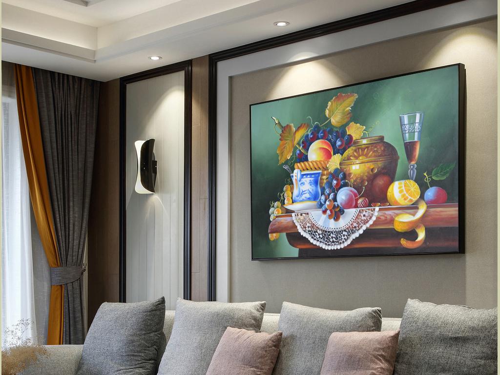 画客厅插花静物花卉花卉欧式花卉高清静物水果器皿