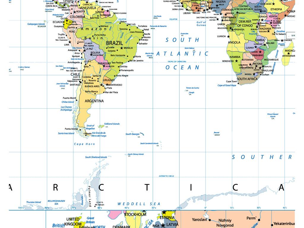 2017年高清标准矢量世界地图设计素材