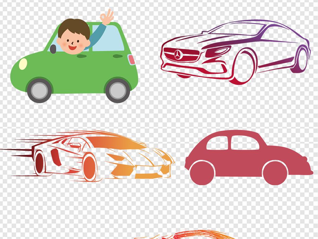 手绘卡通汽车图片素材