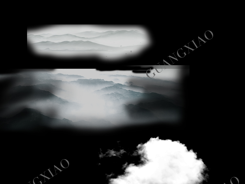 手绘云朵图片心形云朵天空的云朵素材飘动白色缥缈的