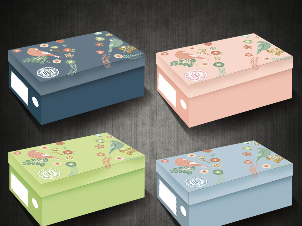 鞋盒纸板雕刻动物
