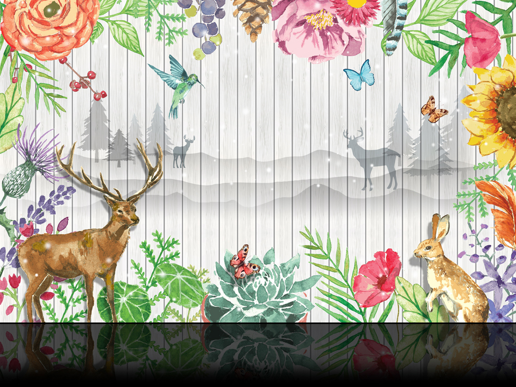 白色木板 木板墙 现代花卉 花鸟背景 电视背景墙 背景墙 壁画 装饰画 客厅 沙发 卧室 工装背景墙 森林麋鹿 清新背景 森林系 植物背景 麋鹿 绿色 绿色背景 木板 梦幻 梦幻背景 白色背景 白色 花草 木板背景 花草背景