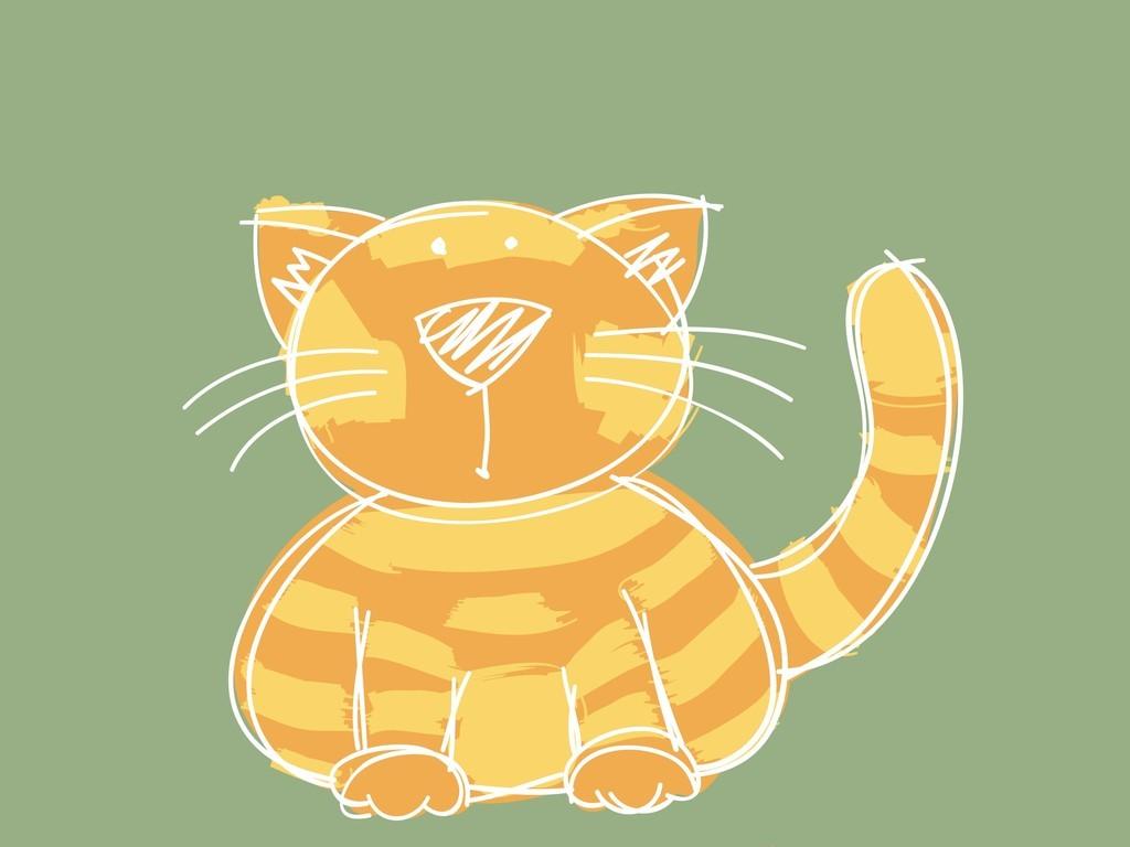 手绘卡通动物猫咪