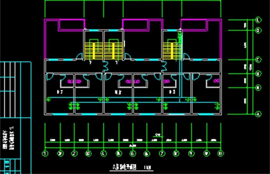 电路cad布置图电气平面图插座布置图照明平面图弱电