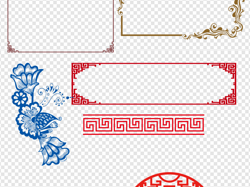 psd中式边框中式素材古典边框中式古典边框素材中式边框古典中式古典图片