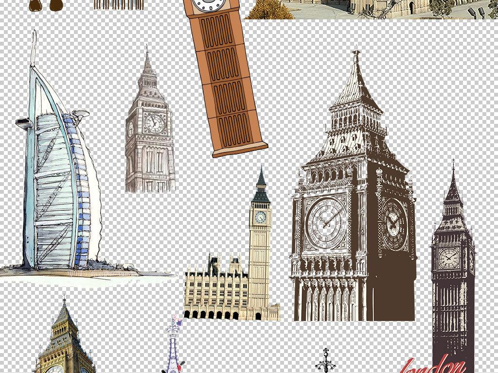 png)大笨钟英国手绘大笨钟图片伦敦英伦英伦风钟表