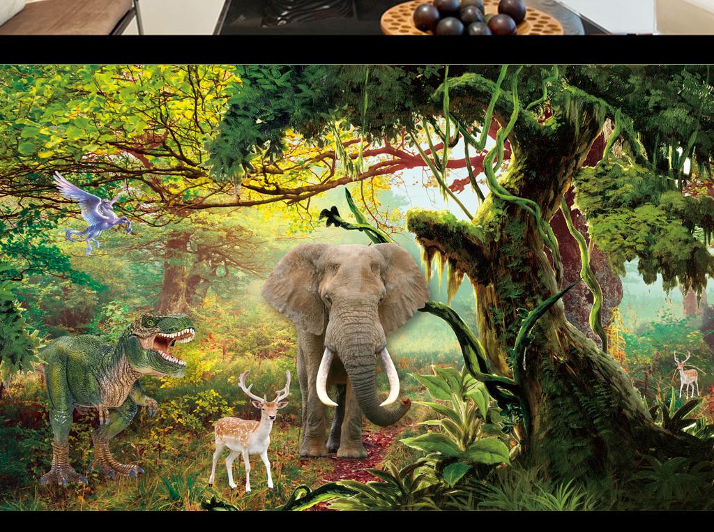 动物王国儿童乐园风景森林背景风景背景森林风景唯美背景墙壁唯美森林