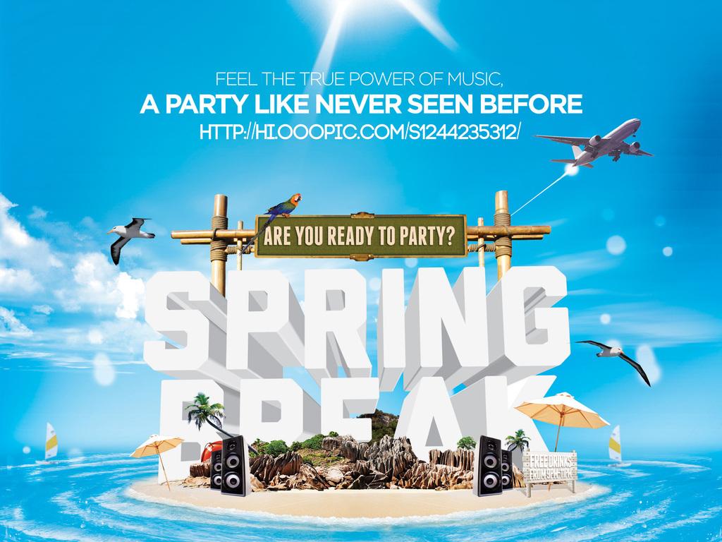 平面|广告设计 海报设计 国外创意海报 > 清新唯美春季海洋世界海岛度