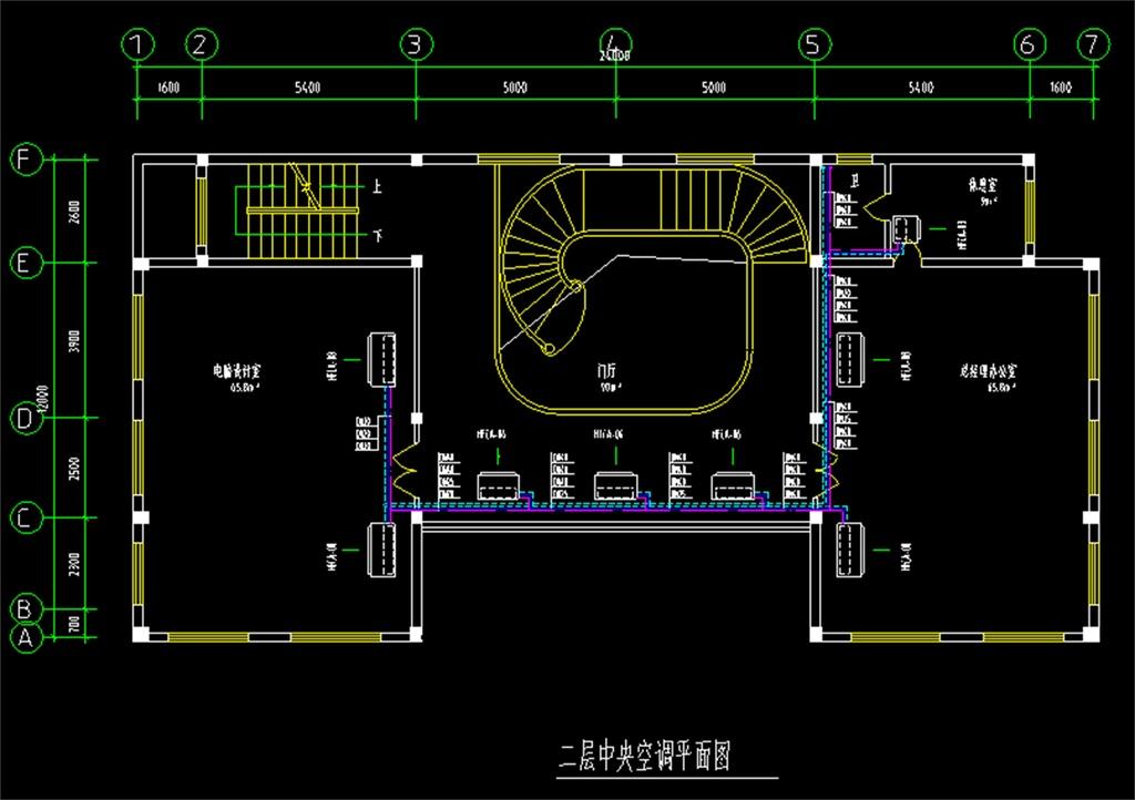 某办公室空调CAD平面图