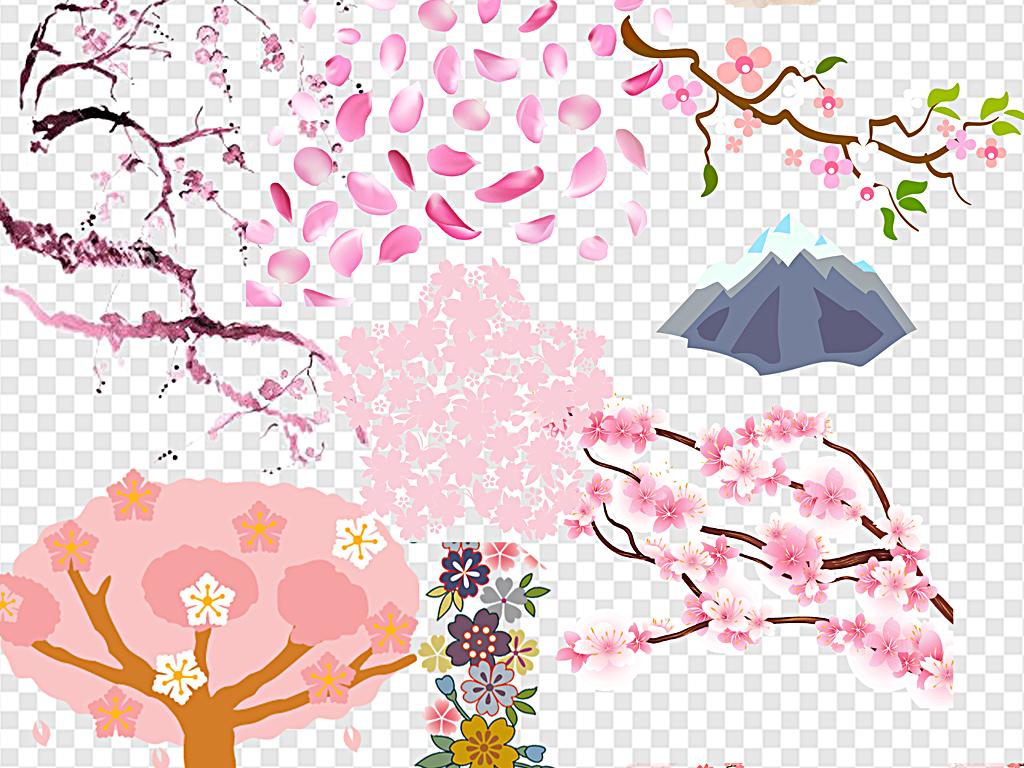 png)                                  日本樱花手绘樱花飘落
