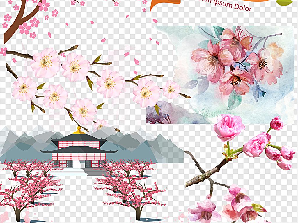 樱花花瓣樱花节樱花背景日本粉色清新樱花
