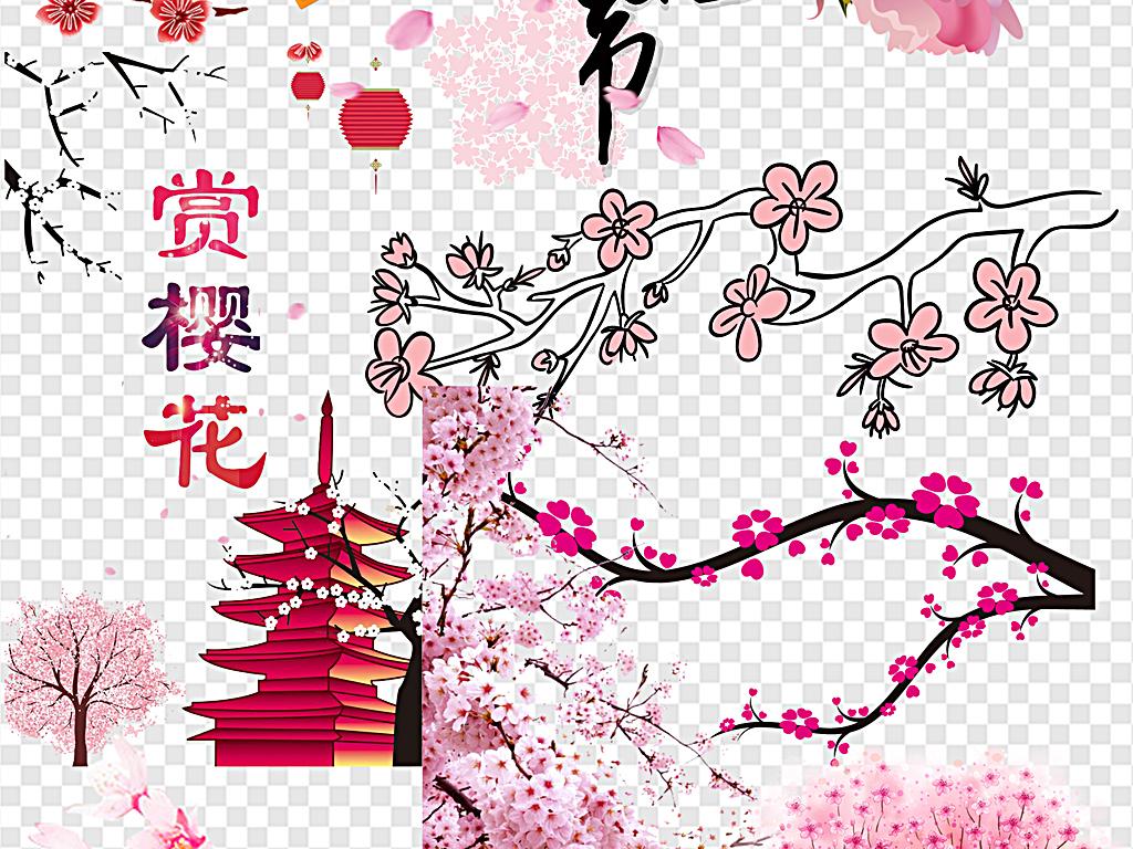 日本樱花                                  手绘樱花