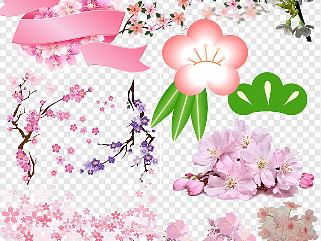 卡通版樱花树 简笔