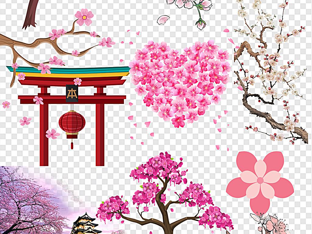 png)                                  手绘樱花樱花边框