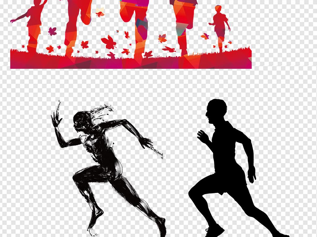 卡通2017年奔跑人物图片海报素材