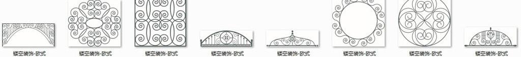 雕花图库木雕镂空隔断花纹中式欧式cad