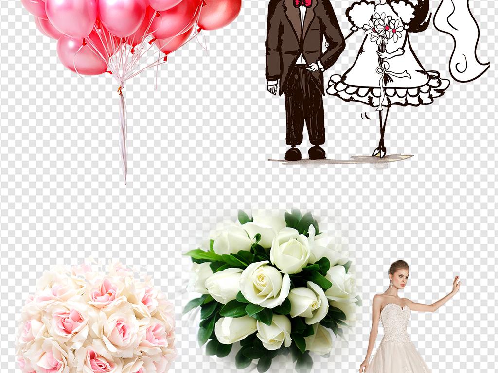 结婚情侣手绘西式婚礼海报图片素材婚庆ppt
