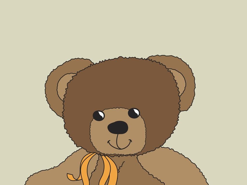 动物插画小熊 矢量图, cmyk格式高清大图,使用软件为 illustrator cs