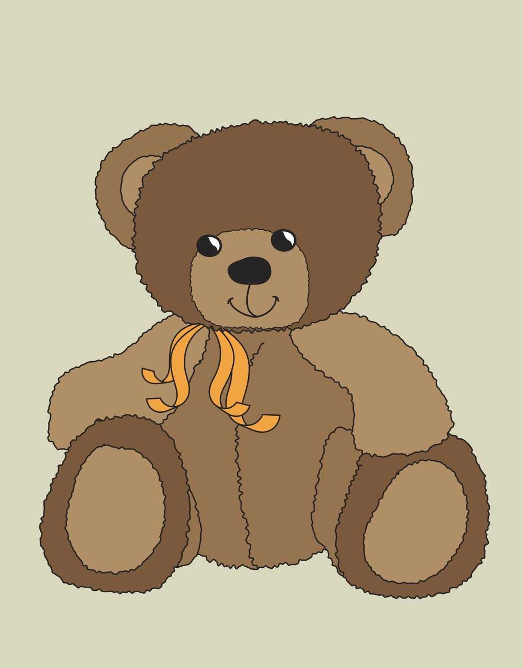 卡通动物插画小熊