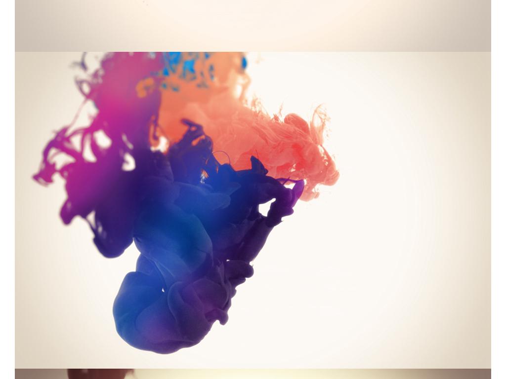 彩色水墨晕染背景