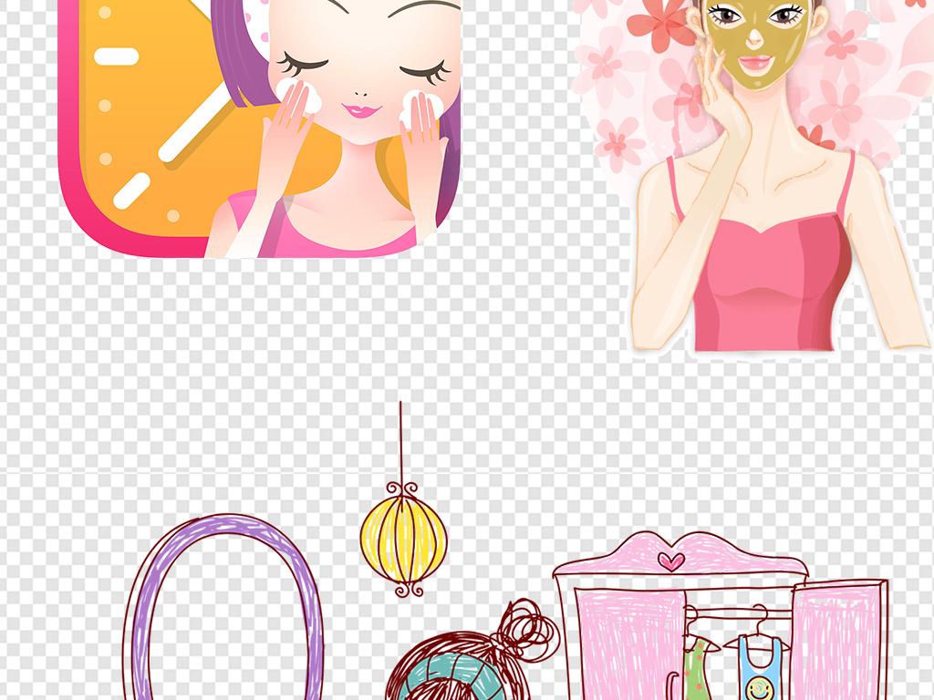我图网提供精品流行化妆品卡通人物素材下载,作品模板源文件可以编辑替换,设计作品简介: 化妆品卡通人物素材 位图, RGB格式高清大图,使用软件为 Photoshop CS6(.png) 卡通可爱护肤品人物形象模特psd图片女性保养美妆 手绘脸部美容特写图