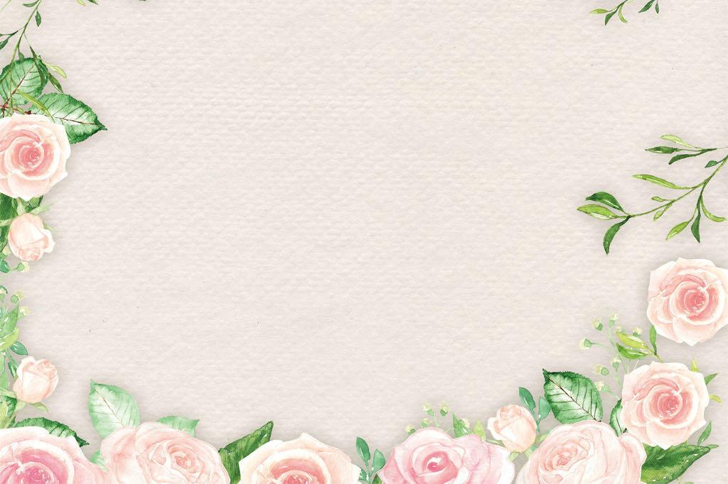 办公信纸边框卡通可爱花纹三八妇女节花朵信纸花朵背景图片