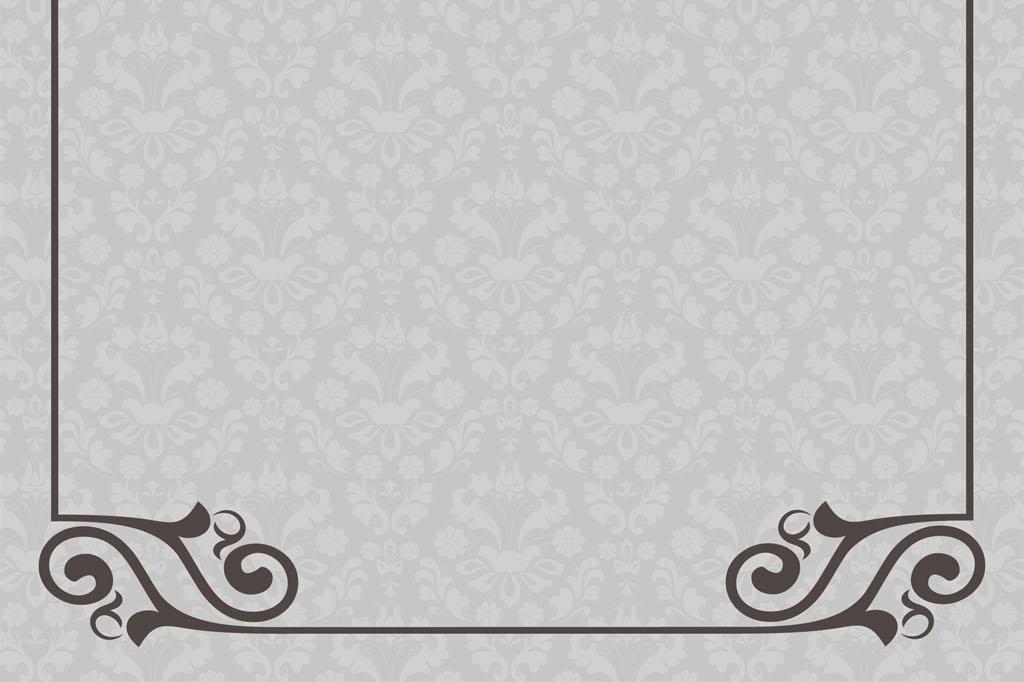 欧式花纹边框信纸背景