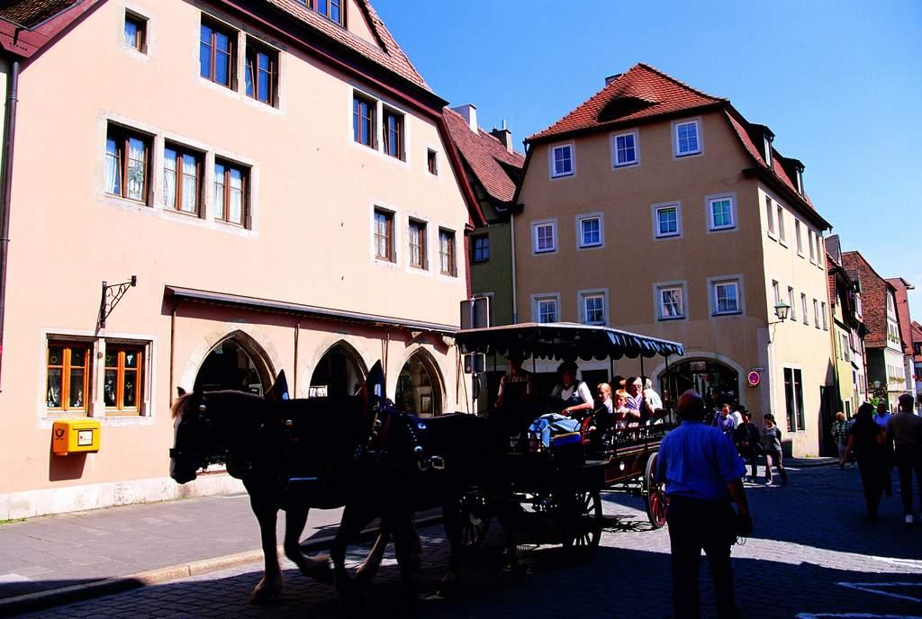 德国小镇欧洲建筑世界风景街景住宅图片