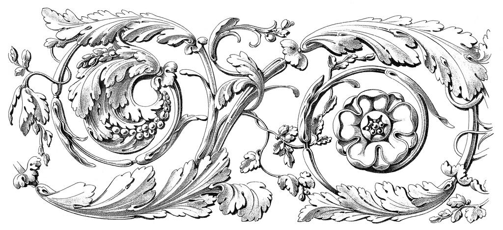 工艺花纹雕刻花纹雕刻图案石材工艺手绘设计潮流花卉底纹边框欧式装饰