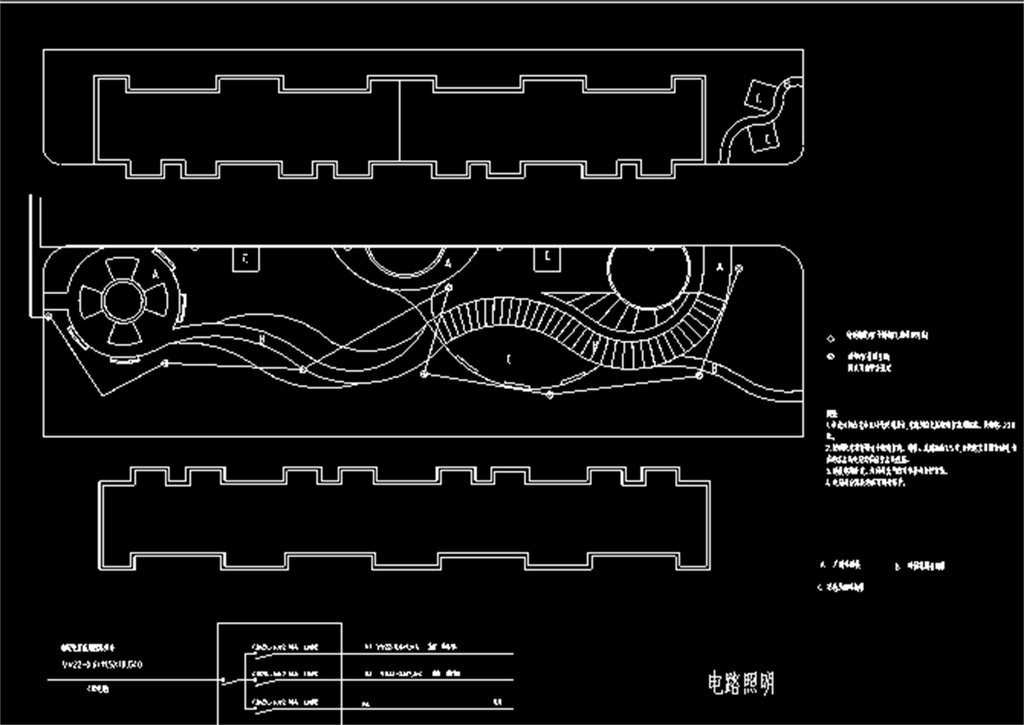 小区庭院绿化设计cad施工图