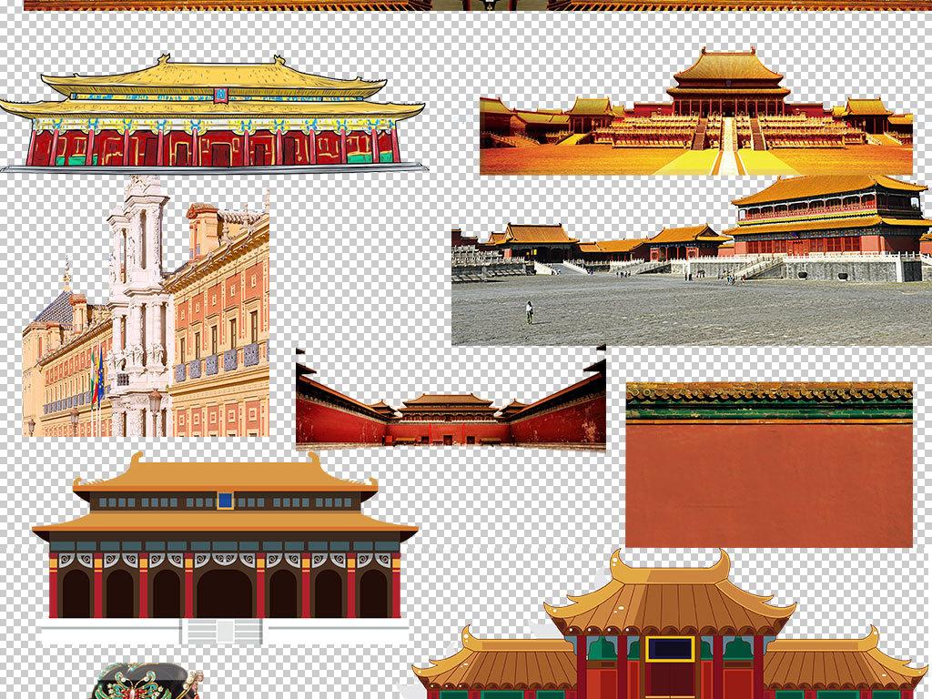 手绘建筑皇家园林古代