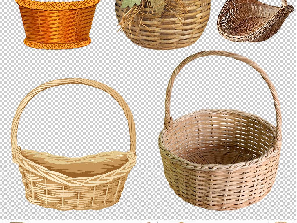 品竹编手工艺针线手工竹篓竹子编织设计元素ps海报