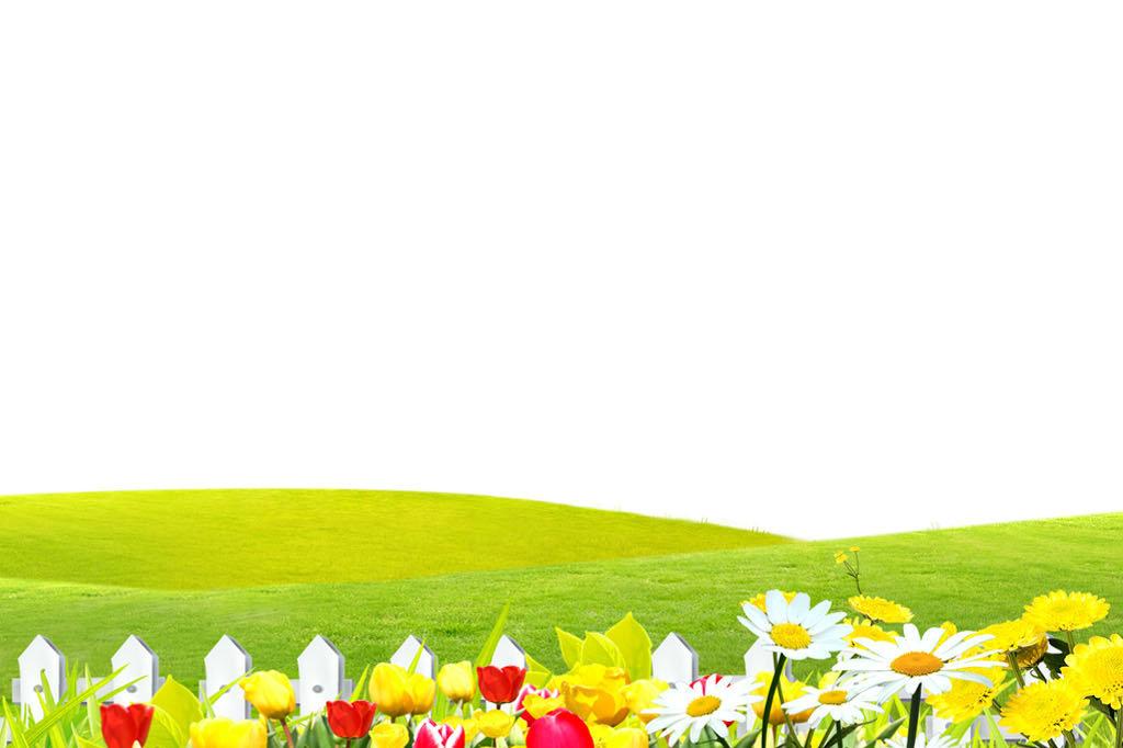 春天户外风景模板信纸图片