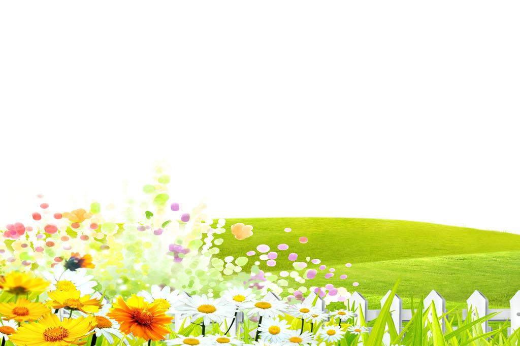 春天户外风景信纸模板图片
