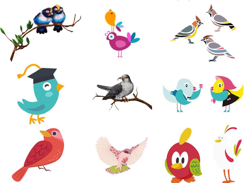 小鸟的卡通图片设计素材png集合4