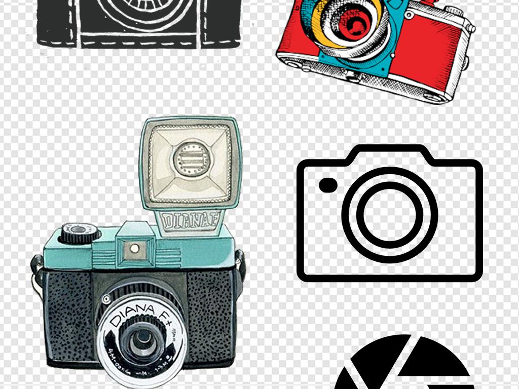 镜头                                  相机的卡通图片手绘