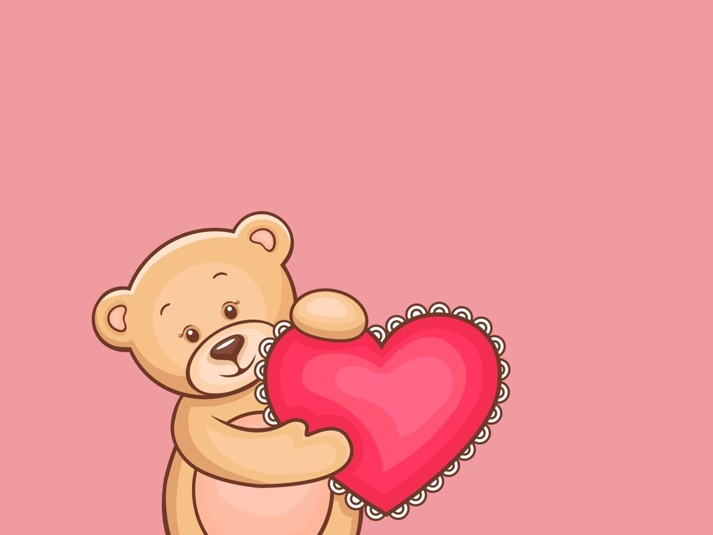 有颜色的小熊简笔画