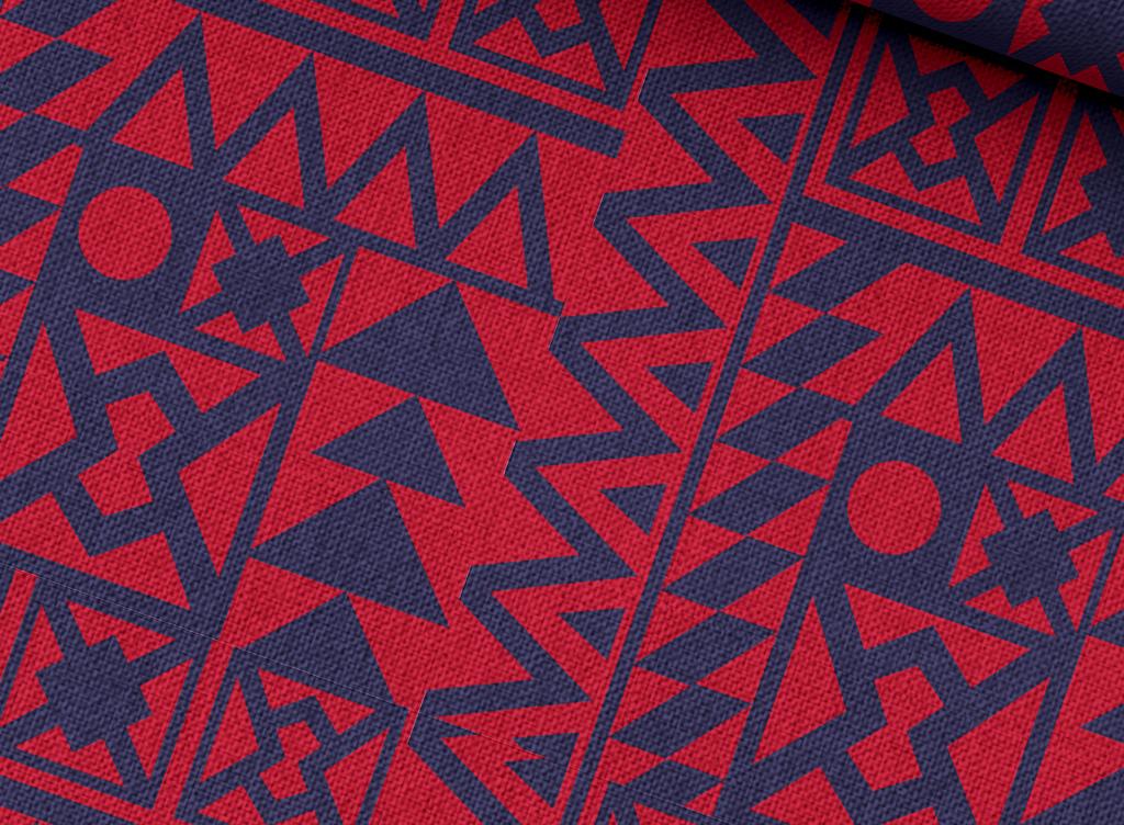 现代几何抽象面料图案设计图片