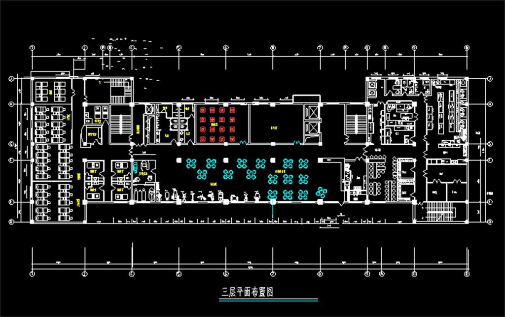 餐厅酒店cad平面设计图
