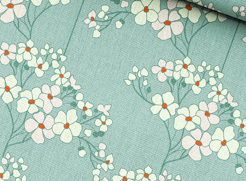 小碎花面料布匹图案设计手绘植物花卉