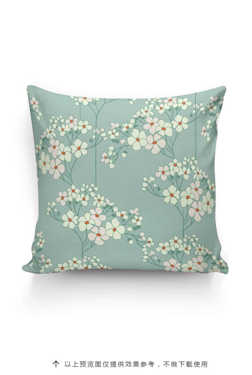 小碎花抱枕图案设计手绘植物花卉