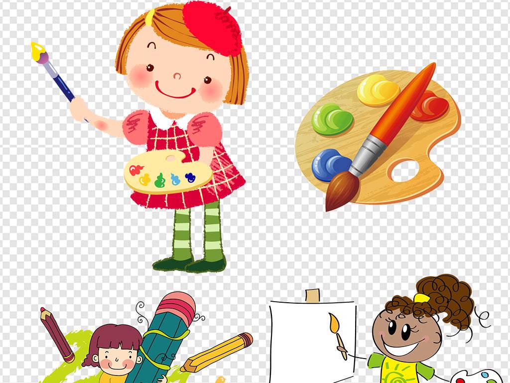 绘画油画卡通人物儿童卡通儿童画画