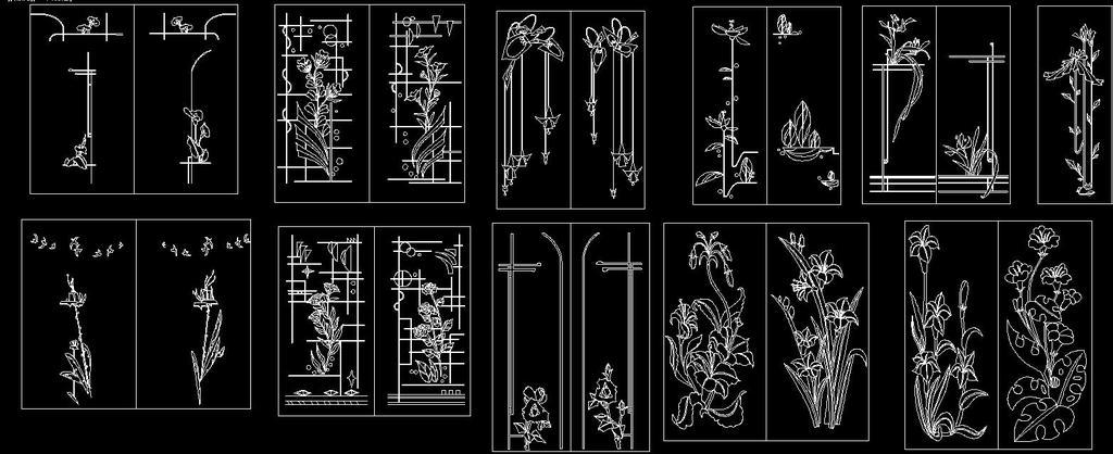 我图网提供精品流行移门雕刻 装饰画图案素材下载,作品模板源文件可以编辑替换,设计作品简介: 移门雕刻 装饰画图案,,使用软件为 AutoCAD 2004(.dwg) 移门图案CAD 移门玻璃 移门素材 雕花CAD 欧式雕花 中式雕花 雕花图案 雕花纹样 花边花纹 花纹CAD素材 欧式花纹 风景素材 装饰CAD CAD玻璃图 背景墙 移门 雕刻 雕刻移门