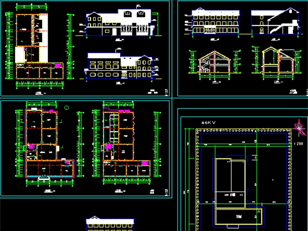 变电站cad施工设计图
