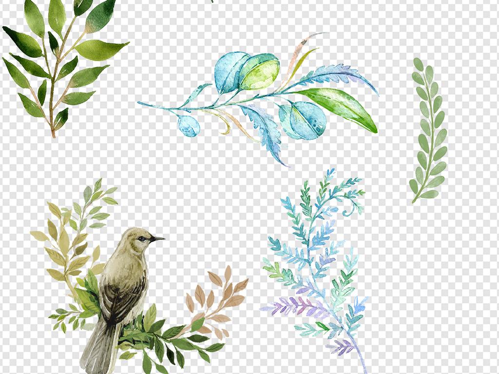 花朵树叶边框素材
