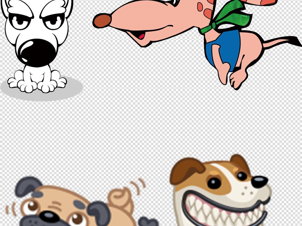 幼儿园儿童画手绘插画猫咪和狗设计元素ps素材png可爱可爱卡通