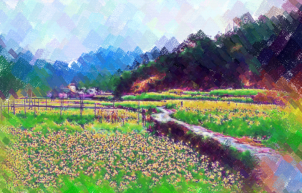 乡村风景画