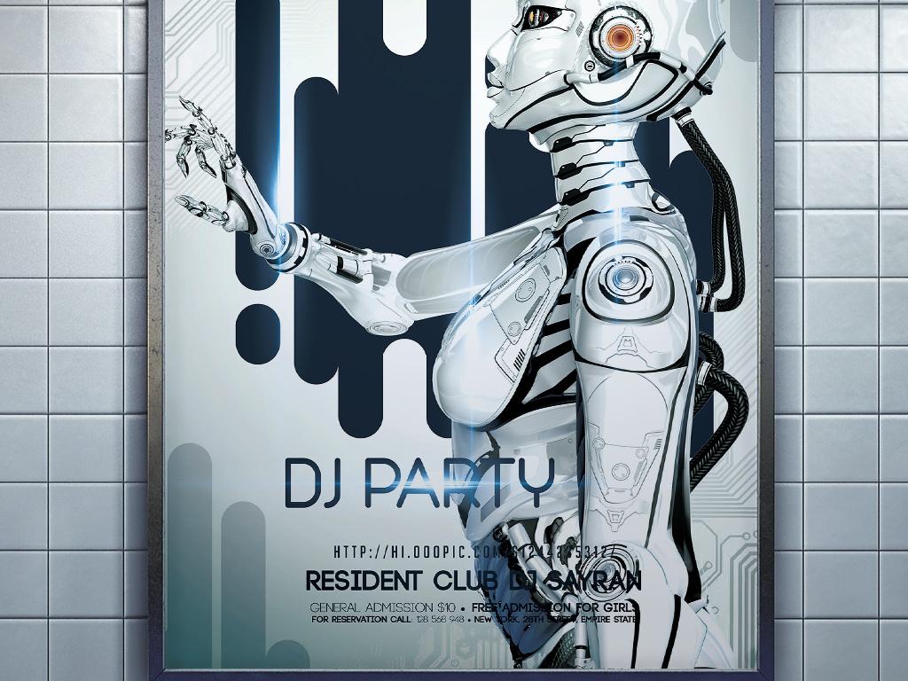 平面|广告设计 海报设计 国外创意海报 > 时尚现代人工智能宇宙探索科