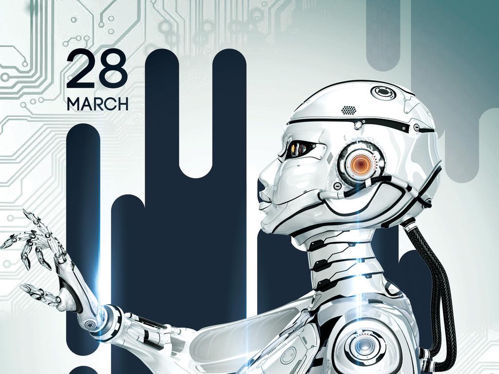 平面|广告设计 海报设计 国外创意海报 > 时尚现代人工智能宇宙探索